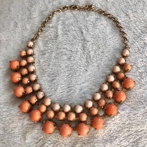Peach/coral necklace